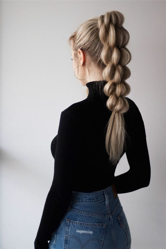 10 Braided Ponytail Hair Styles for Long Hair - Ponytail Hairstyles 2020 - 2021