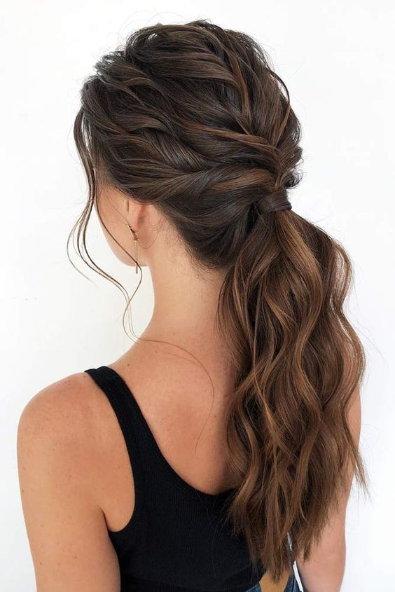 10 Cute Easy Ponytail Hairstyles for Women - Long Hair Styles 2020 - 2021