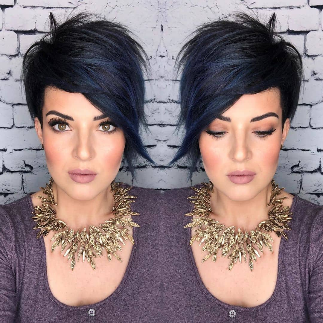 Easy Everyday Straight Hairstyles for Short Hair - Women Short Haircut Trends