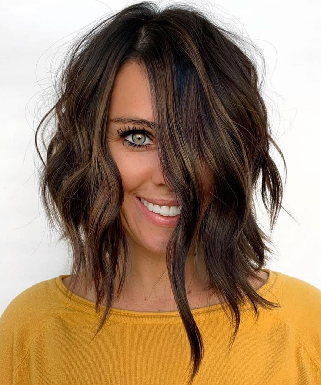 10 Lob Hairstyles for Thick Wavy Hair - Shoulder Length ...
