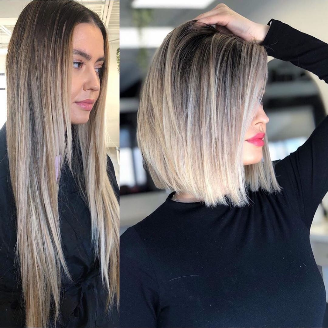 Long to Short Haircuts Before and After - Female Short Hairstyle Idea
