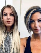 Long to Short Haircuts Before and After - Female Short Hairstyle Ideas