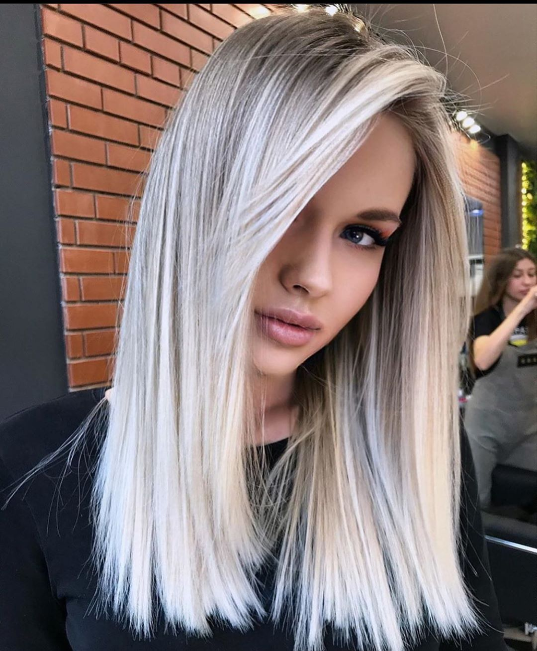 Medium Length Hairstyle and Color   Shoulder Length ...