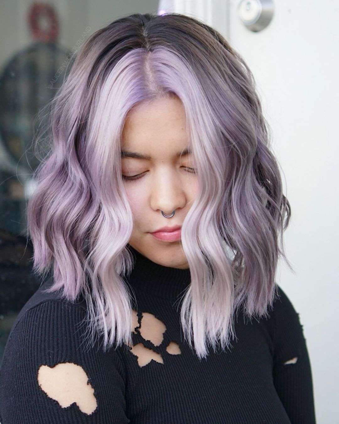 10 Shoulder Length Haircuts & Color - Fancy Triple Colors!