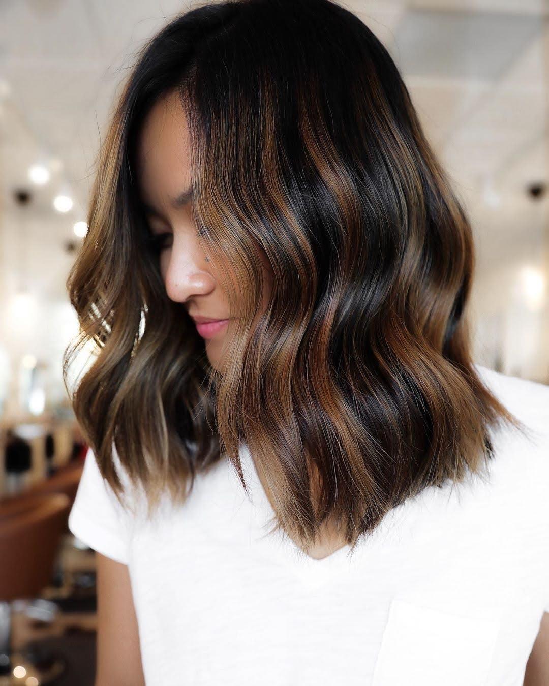 10 Shoulder Length Haircuts & Color - Fancy Triple Colors!