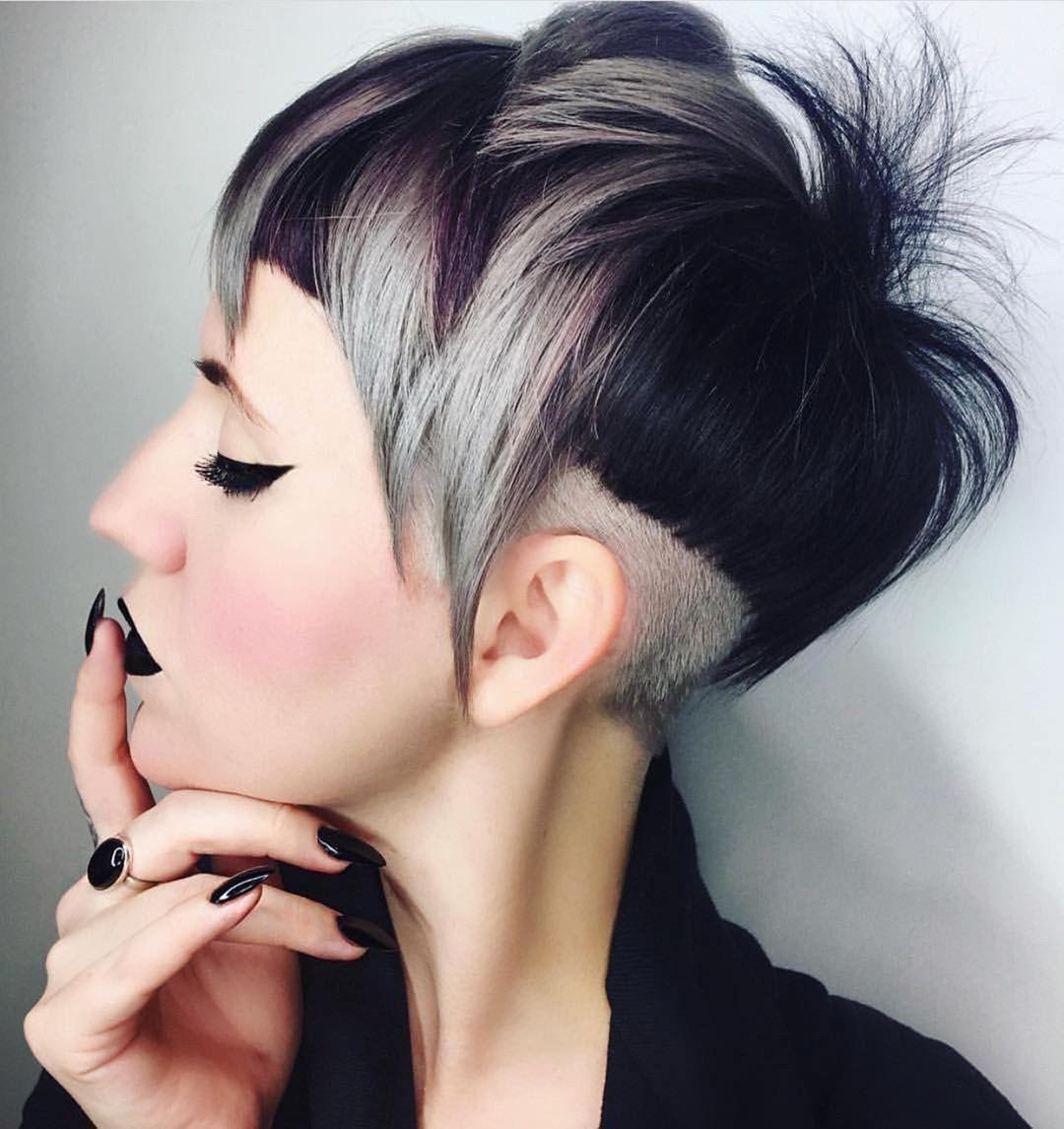 10 Pixie Cut & Color Fikir - Çirkin Yeni Kısa Saç Modelleri