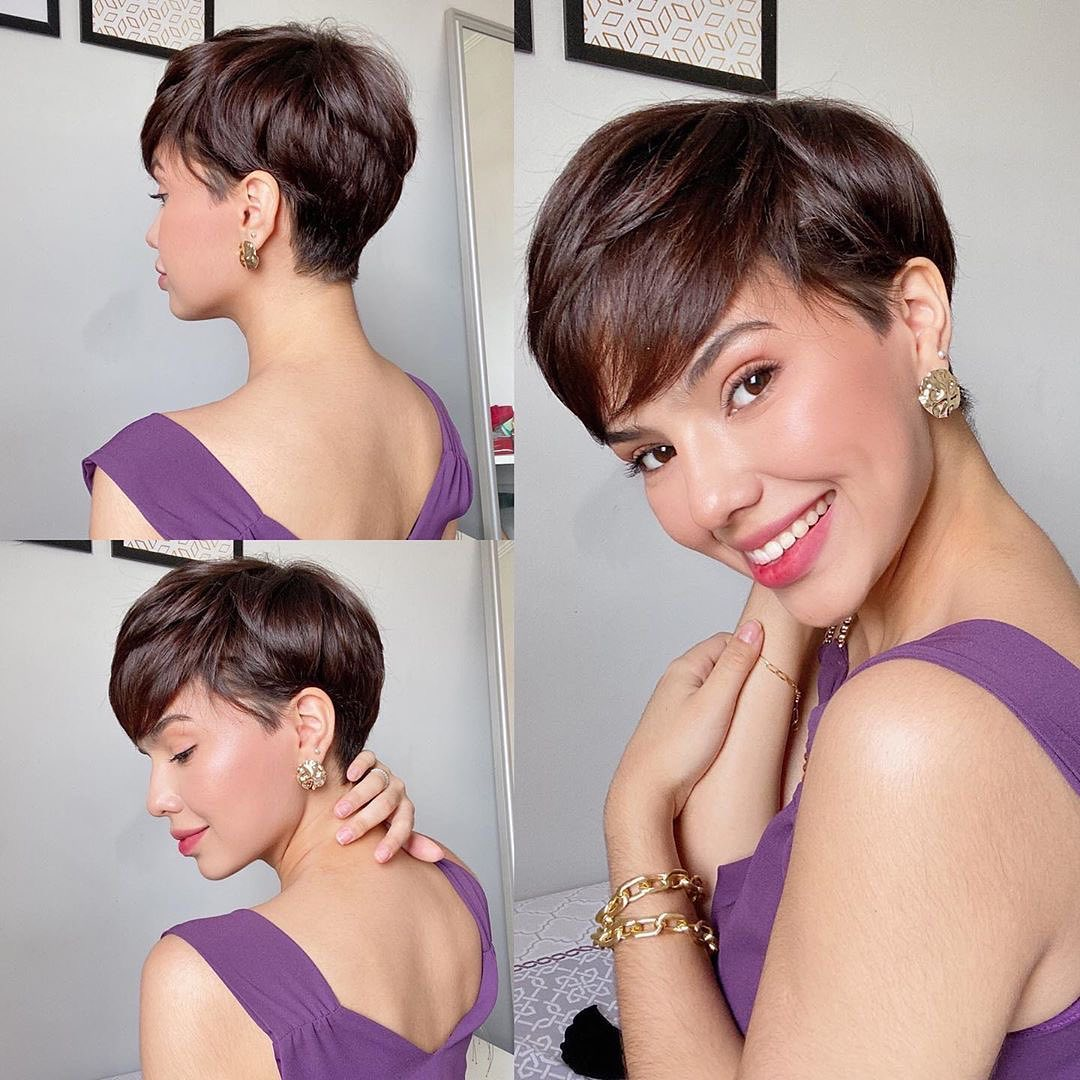 Trendy Short Hair Style with Color - Short Haircut and Hairstyle Ideas of 2021