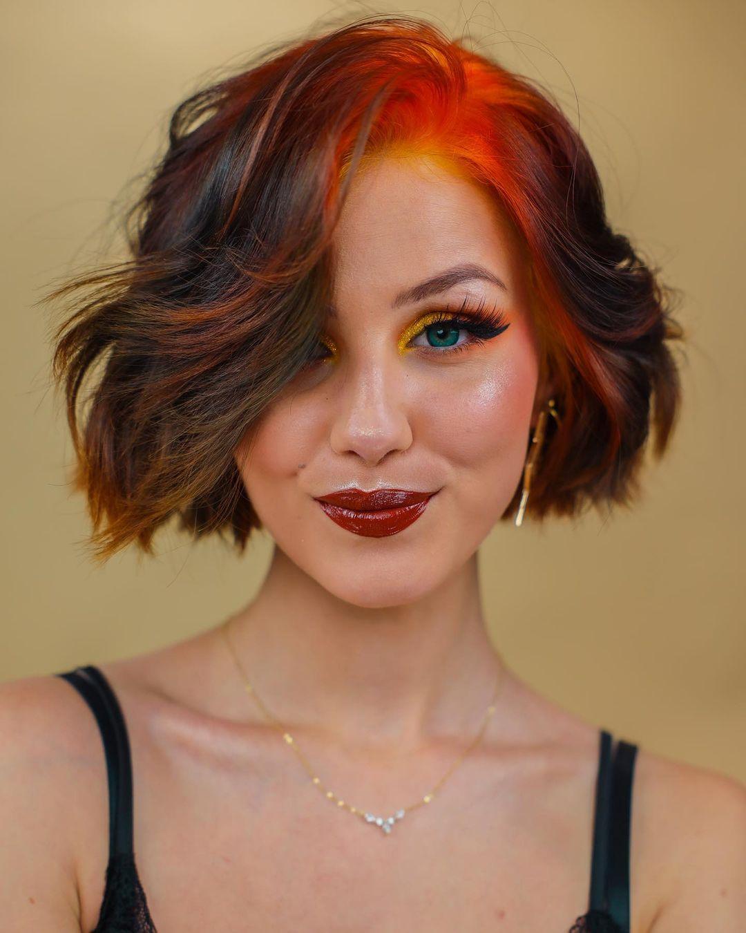 Stilvolle kurze Bob-Haarschnitte für dickes Haar |  Frauen Kurzhaar Ideen 2021 - 2022