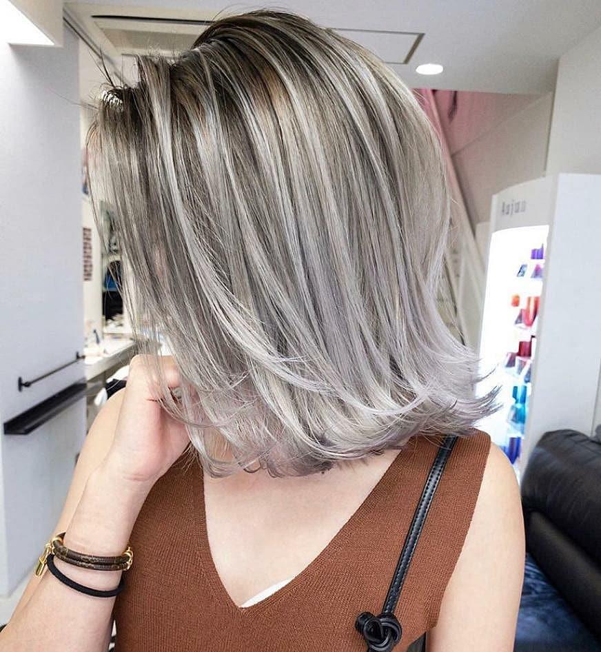 Ombre Balayage Lange Bob-Frisuren - Weibliche lange Bob-Haarschnitt-Ideen