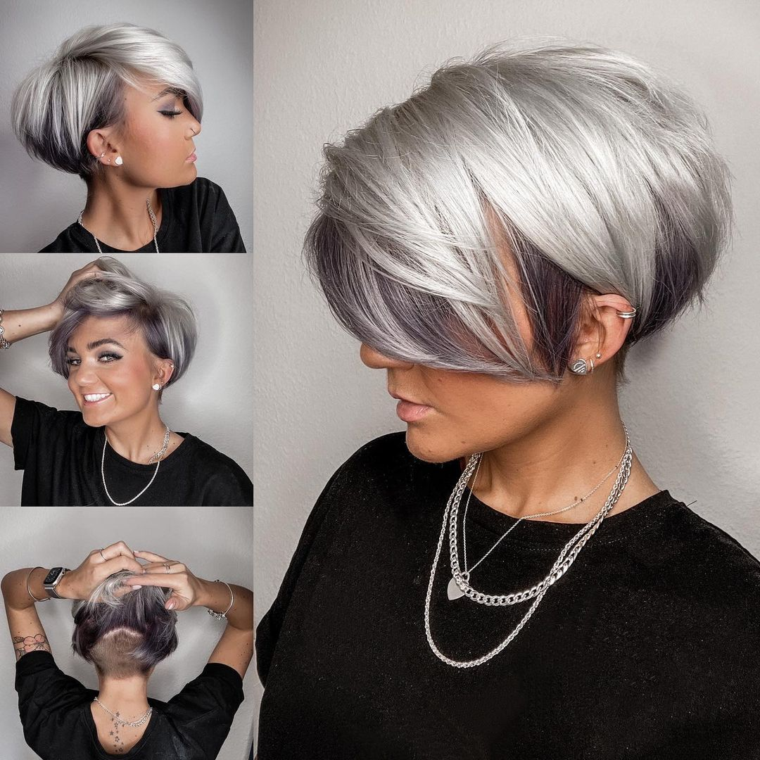 Hübsche kurze Bob-Frisuren mit Farbe - Kurzhaarschnitt-Designs für Frauen