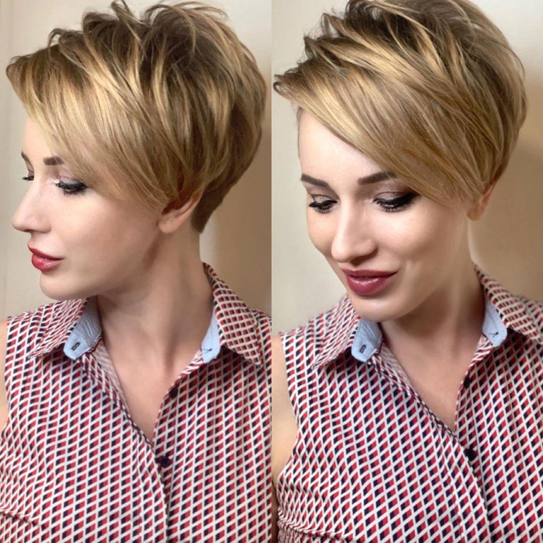 Kurze geschichtete Frisuren – geschichtete kurze Haarschnitte für feines und dickes Haar