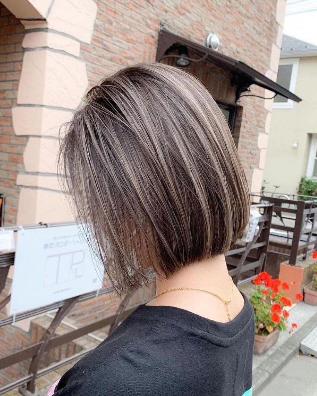 Stylish Cute Bob Haircuts with Short Hair - Women Short Hair Color Ideas