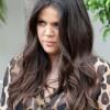 Khloe Kardashian Brown Long Wavy Hairstyles