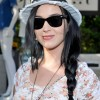 Katy Perry Long Braided Hairstyle: Casual Loose Side Braid