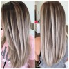 10 Best Long Hairstyles with Straight Hair – Beige & Ash Color Ideas