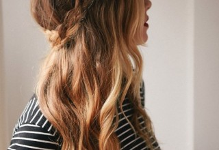 Cute Long Hairstyles: Half Down French Braid