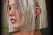 10 Cute Short Haircuts for Thick Hair in Groovy Blonde & Copper Colors