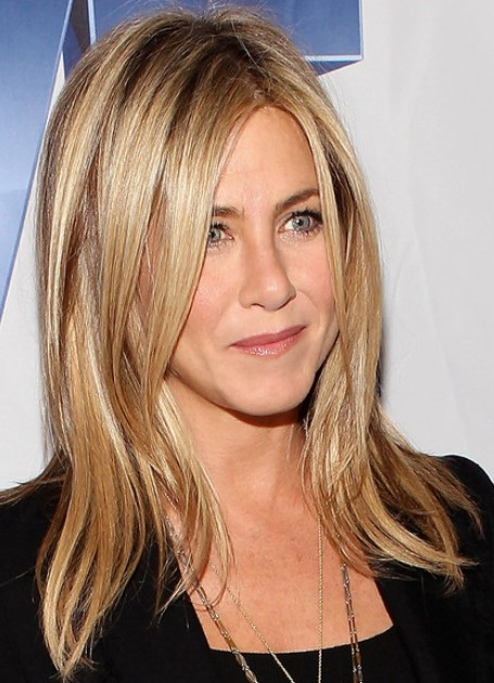 Jennifer Aniston Blonde Long Hairstyles 2012
