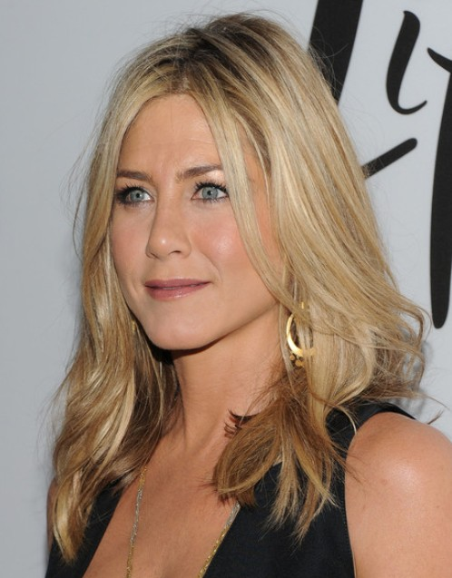 Jennifer Aniston Long Straight Hairstyles 2012