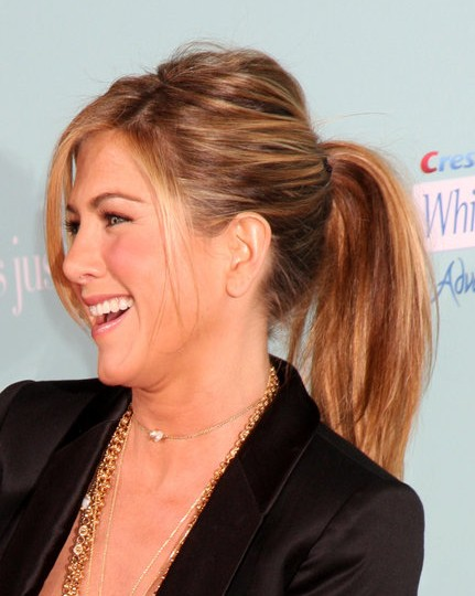 Jennifer Aniston Ponytail Hairstyles 2012