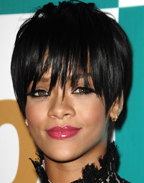 Rihanna Black Pixie Haircuts