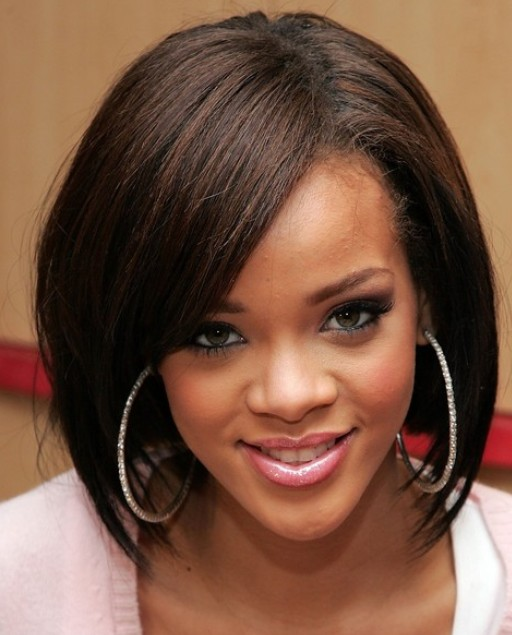 Rihanna Medium Bob Haircuts