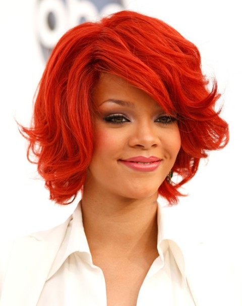 Rihanna Short Layered Hairstyles 2012