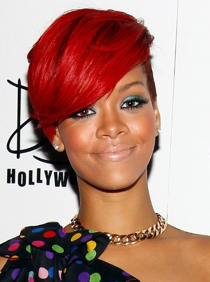 Rihanna Red Short Hairstyles