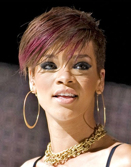 Rihanna Very Shor Hairstyles