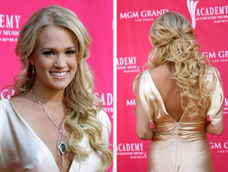 Carrie Underwood Half Up Half Down Hairstyles 2012