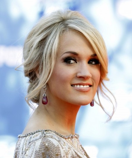 Carrie Underwood Messy Updo Hairstyles 2012