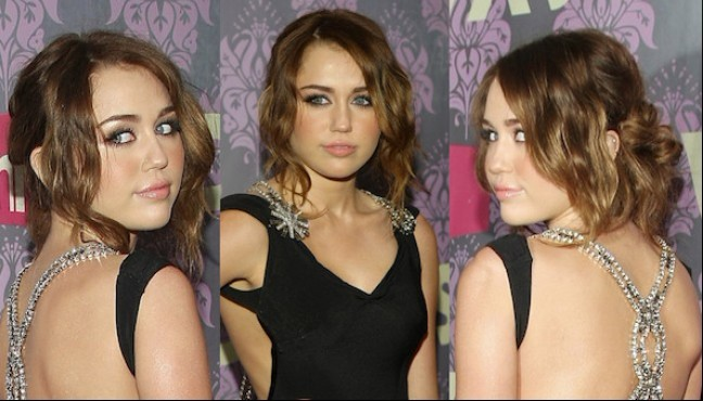 Miley Cyrus Prom Hairstyles 2012