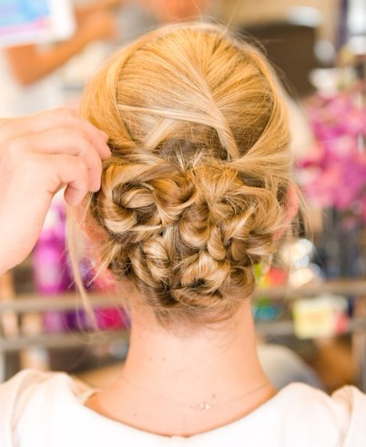 2012 Prom Updo Hairstyles Back View