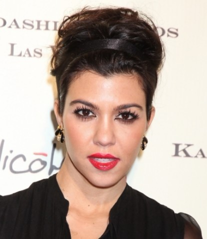 Kourtney Kardashian Cute Prom Updo Hairstyles