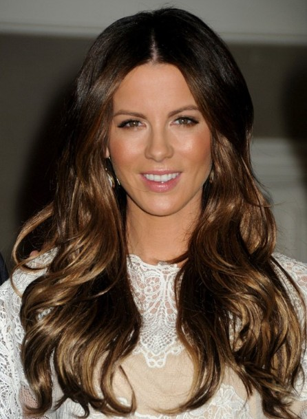 Kate Beckinsale Long Layered Frisuren 2012