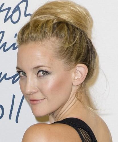 Kate Hudson Bun Hairstyles 2012