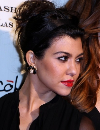 Kourtney Kardashian Updo Hairstyles