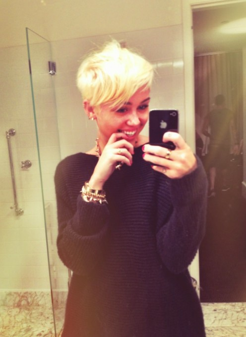 Miley Cyrus New Hair august 2012