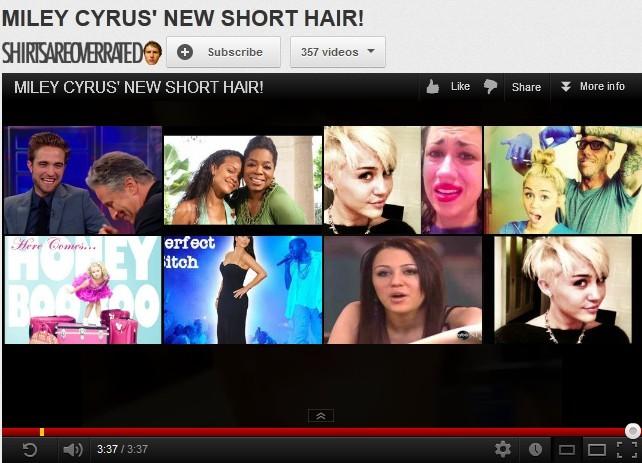 Miley Cyrus Short Haircuts 2012