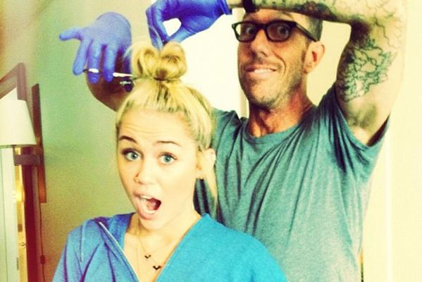 Miley Cyrus cut her hair short