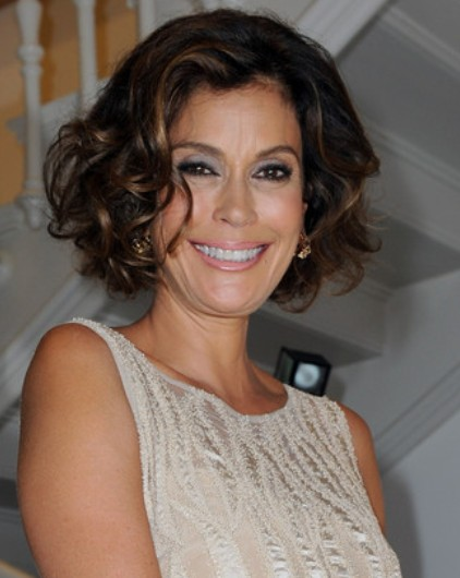 Teri Hatcher Curly Hairstyles 2013